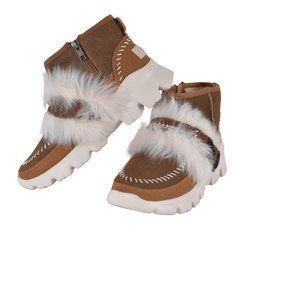 New UGG Fluff Punk Fur Ankle Boots Shoes